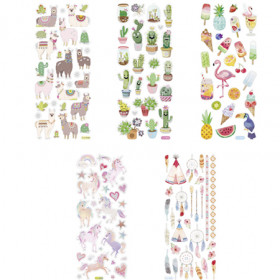 stickers scintillants tendance